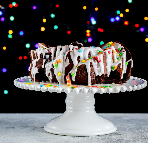 Gâteau au chocolat de noël.