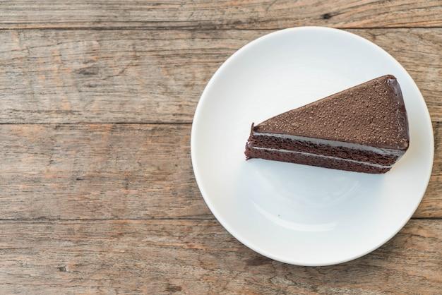 Gâteau au chocolat sur plaque