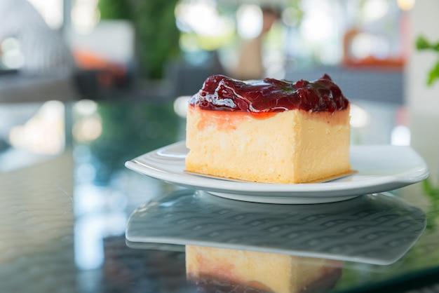 Gâteau au fromage aux fraises