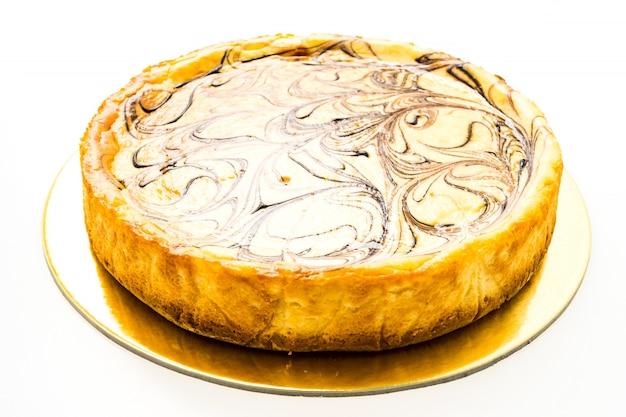 Gâteau au fromage isolé