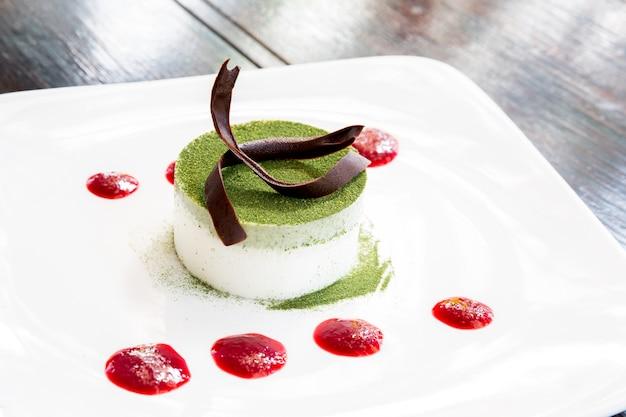 Gâteau au thé vert