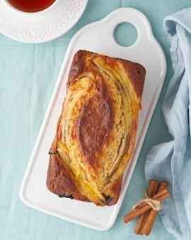 Gâteau aux bananes et myrtilles