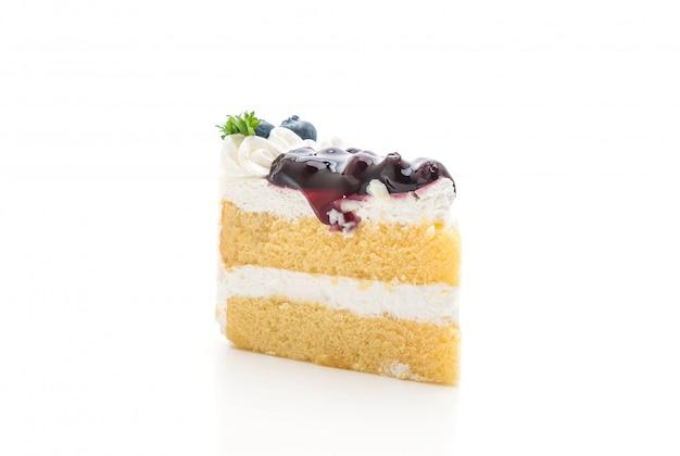 Gâteau aux bleuets isolé