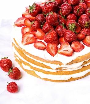 Gâteau aux fraises