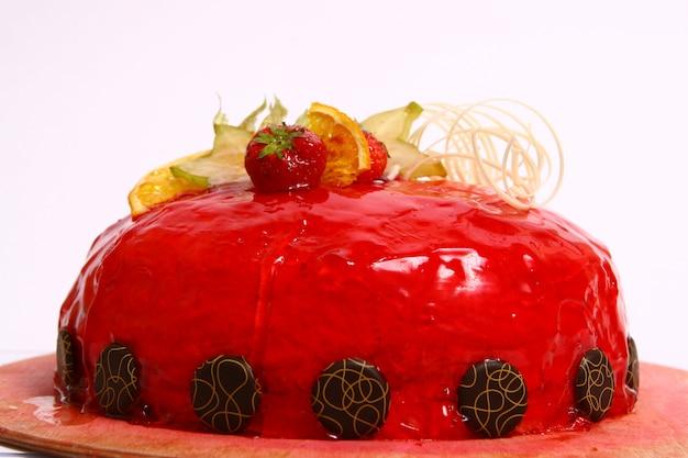 Gâteau aux fruits au chocolat