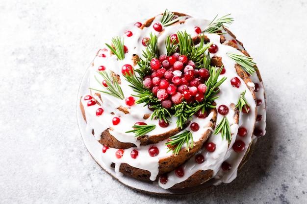 Gâteau aux fruits de noël, pudding, cuisson