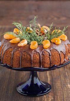Gâteau aux mandarines pour noël