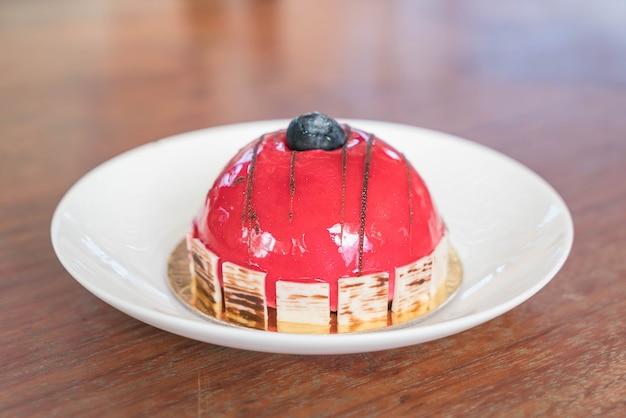 Gâteau aux mousses rasberry