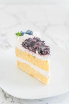 Gâteau aux myrtilles sur plaque