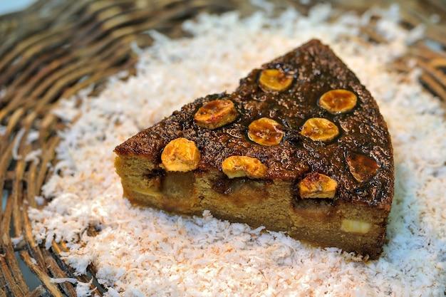 Gâteau à la banane dessert de la cuisine brésilienne du nord-est