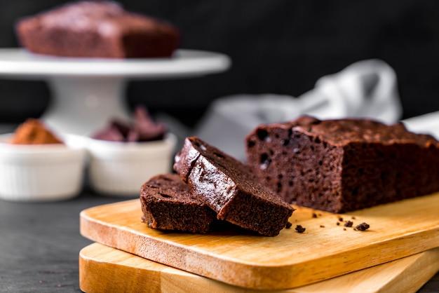 Gâteau brownie au chocolat
