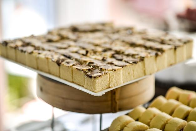 Gâteau carré pour une fête