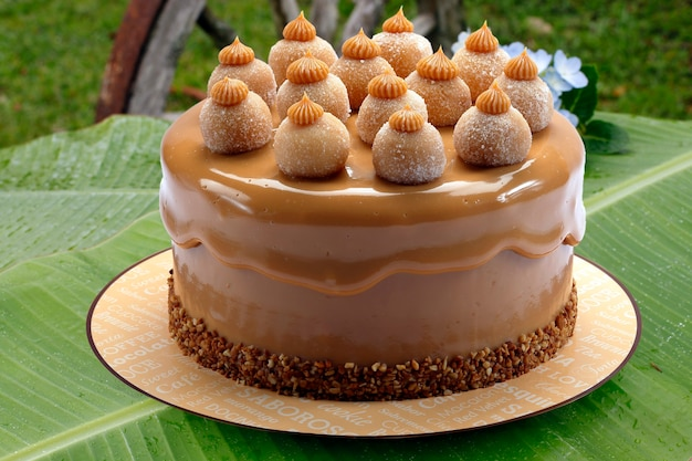 Gâteau couvert au lait sucré