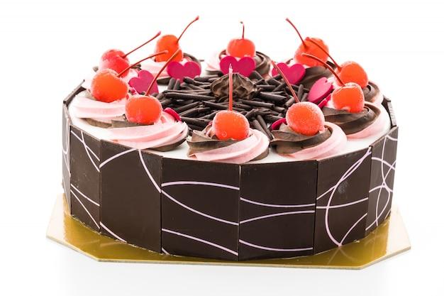 Gâteau à la crème glacée forêt blanche