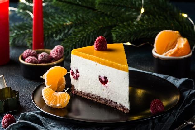 Gâteau crémeux au mascarpone. cheesecake new yorkais.
