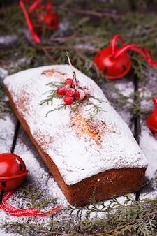Gâteau, décoré pour noël