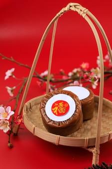Gâteau du nouvel an chinois (avec le caractère chinois