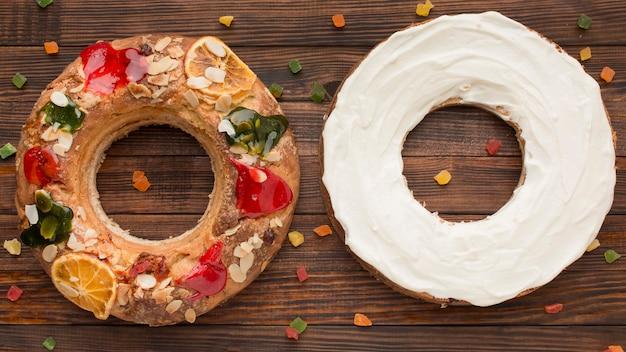 Gâteau épiphanie roscon de reyes et crème
