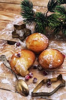 Gâteau éponge pour le buffet du nouvel an