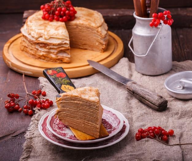 Gâteau étagé à base de pancakes