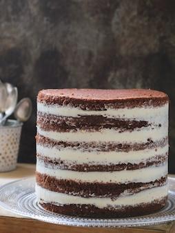 Gâteau étagé rustique de noël