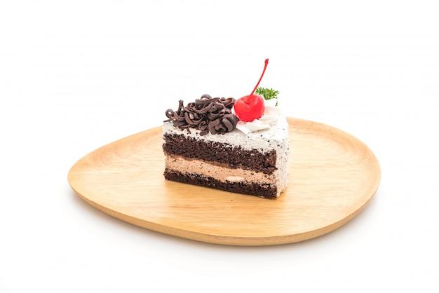 Gâteau de la forêt noire isolé
