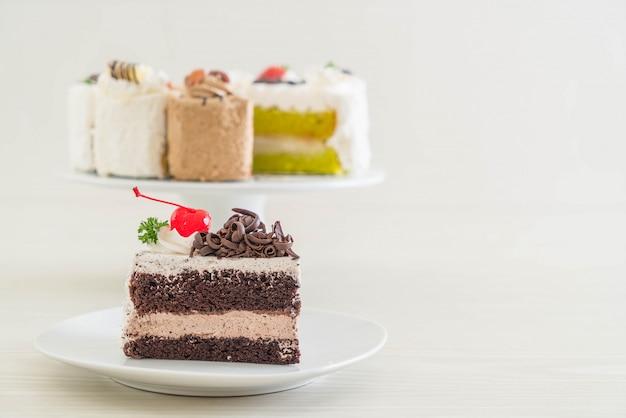 Gâteau forêt noire sur plaque