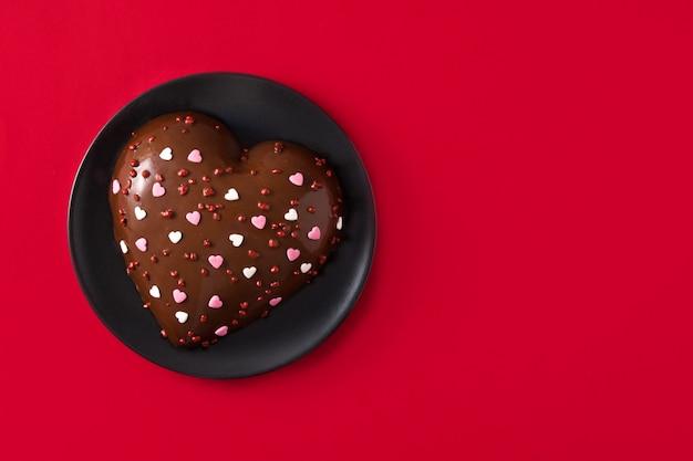 Gâteau en forme de coeur pour la saint valentin