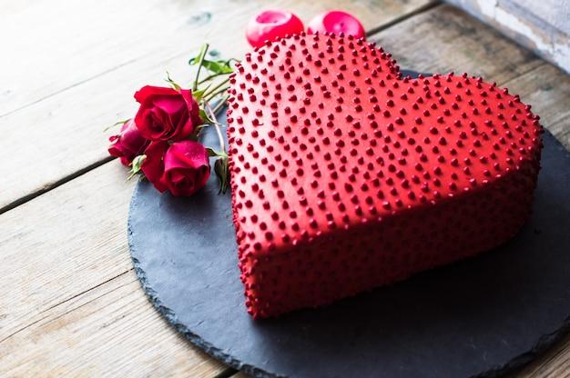 Gâteau en forme de coeur