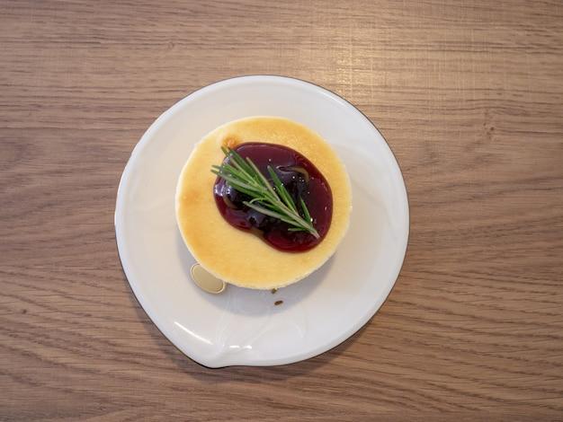 Gateau de fromage aux myrtilles