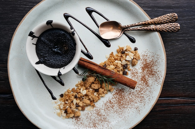Gâteau de lave au chocolat