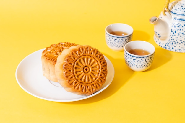 Gâteau de lune chinois pour la fête de la mi-automne