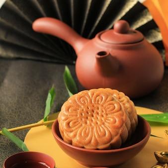 Gâteau de lune dessert chinois snack pendant la nouvelle année lunaire festival de la mi-automne
