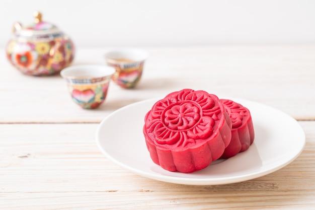 Gâteau de lune saveur de velours rouge pour la fête de la mi-automne