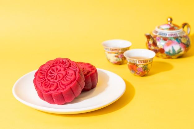 Gâteau de lune saveur velours rouge pour la fête de la mi-automne