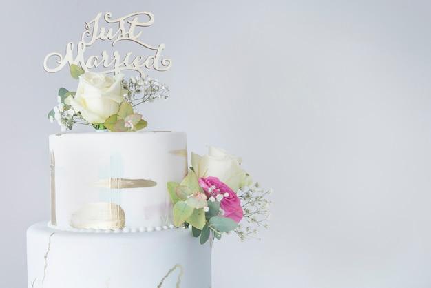 Gâteau de mariage au fondant