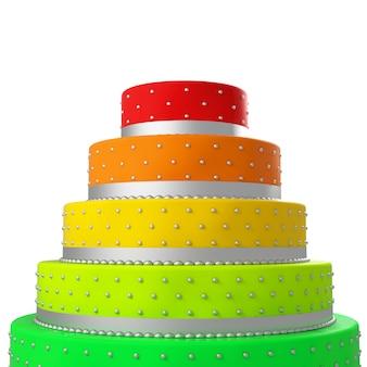 Gâteau de mariage coloré