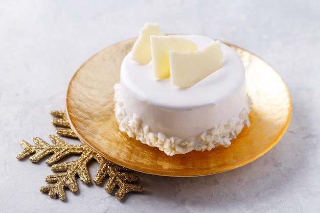 Gâteau de noël au chocolat blanc