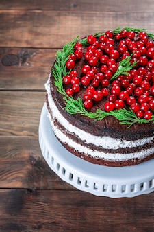 Gâteau de noël nouvel an dessert chocolat cuisson