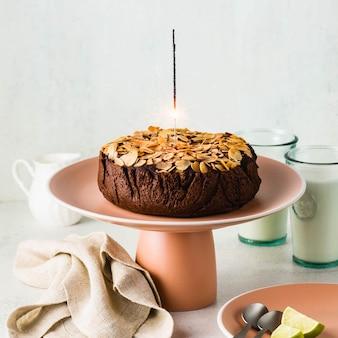 Gâteau paléo au chocolat et aux amandes vegan