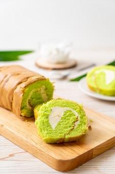 Gâteau roulé pandan