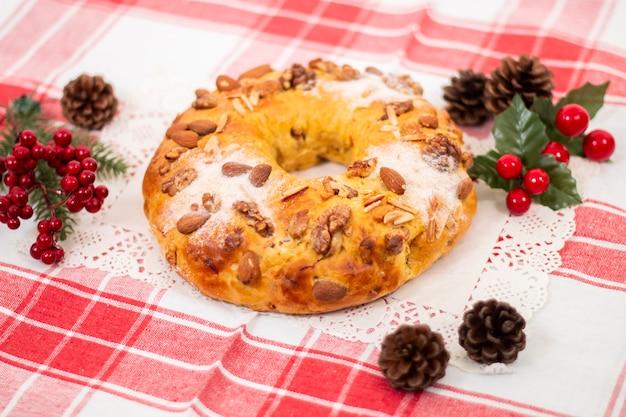 Gâteau typique de la reine de noël.