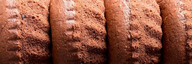 Gâteaux au chocolat gros plan