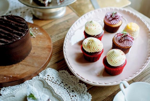 Gâteaux délicieux desserts boulangerie réception événement fête