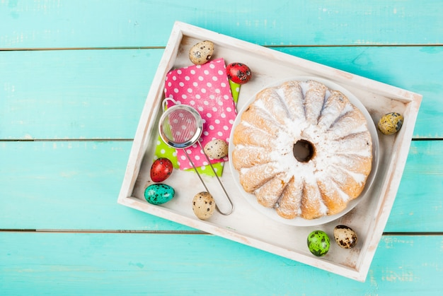 Gâteaux de pâques et lapins