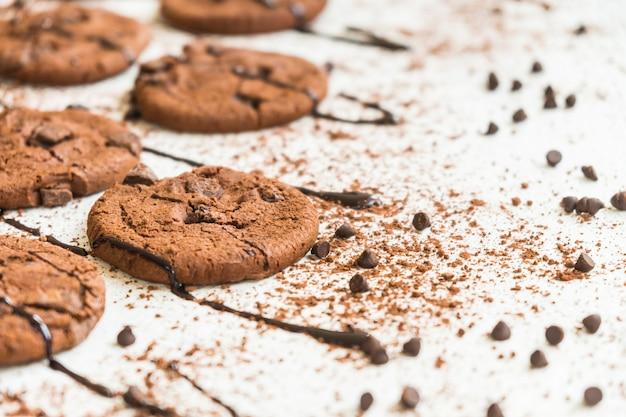 Gâteaux avec des pépites de chocolat