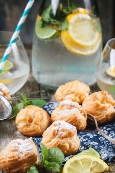 Gâteaux profiteroles à la limonade