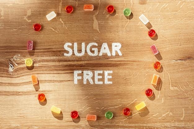 Gâteaux sans sucre. aliments diététiques.