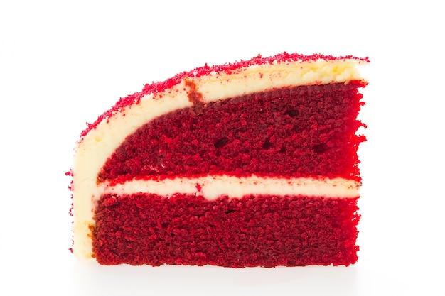 Gâteaux de velours rouge isolés