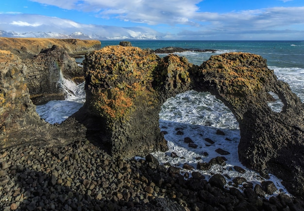 Gatklettur hellnar arch une superbe arche rocheuse péninsule de snfellsnes islande